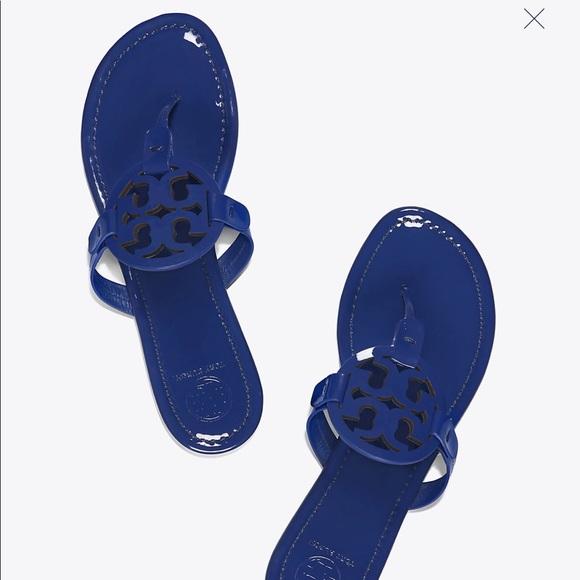 f4969f495db2 Tory Burch Bright Indigo Miller Sandals!